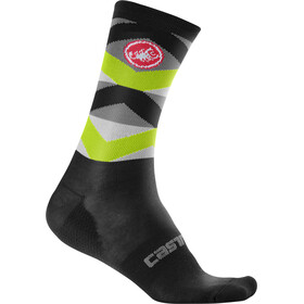 Castelli Fatto 12 Socken black/yellow fluo